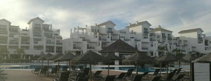 Pool @ Fuerte Estepona is one of Alex.