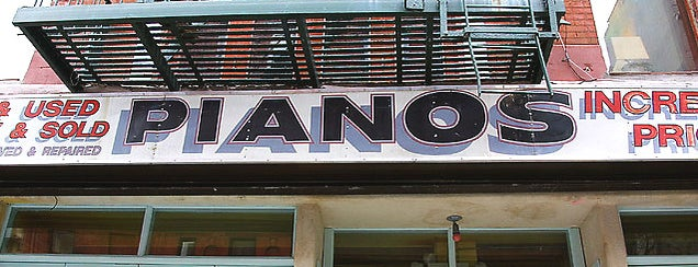 Pianos is one of NYC Faves.