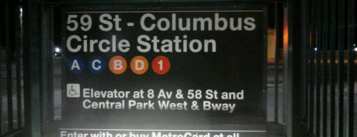 "MTA Subway - 59th St/Columbus Circle (A/B/C/D/1) is one of ""Be Robin Hood #121212 Concert"" @ New York!."
