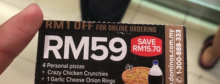 Domino's Pizza is one of Makan Time..