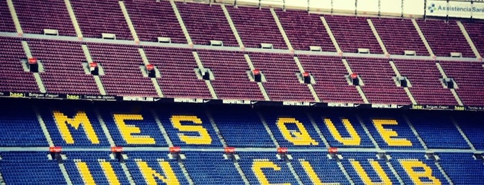Camp Nou is one of Barthelona.