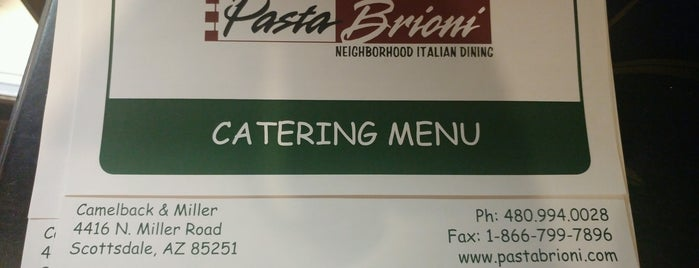 """Pasta Brioni is one of Featured on PBS' """"Check, Please! Arizona""""."""