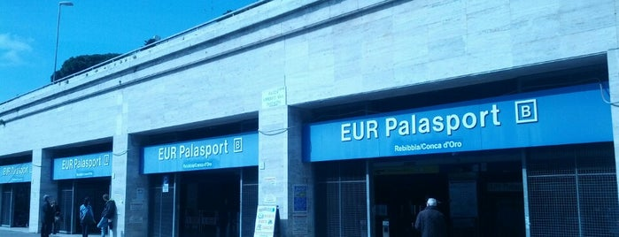 Metro Eur-Palasport (MB) is one of Muoversi a Roma.