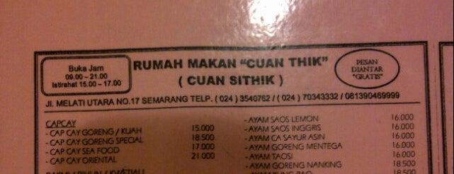 """Rumah makan """"cuan thik"""" is one of Best """"Chinese Food"""" in Semarang."""