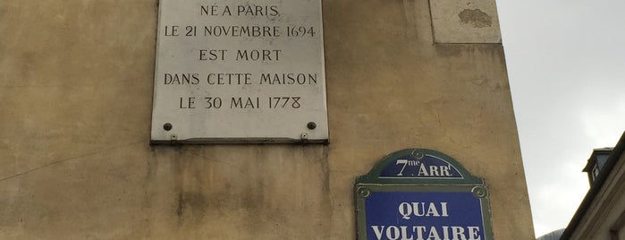 Voltaire (Le) is one of Three Jane's Guide to Paris.