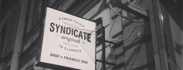 SYNDICATE shop&bar is one of Delish.
