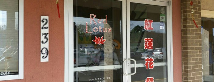 Red Lotus is one of Chapel hill favorites.