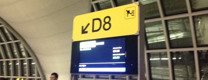 Gate D8 is one of TH-Airport-BKK-1.