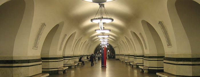 Метро Алексеевская (metro Alekseevskaya) is one of Complete list of Moscow subway stations.