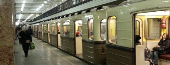 Метро Комсомольская, радиальная (metro Komsomolskaya, line 1) is one of Complete list of Moscow subway stations.