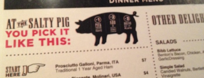 The Salty Pig is one of Best new restaurants 2011.