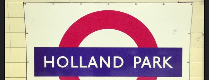 Holland Park London Underground Station is one of Tube Challenge.