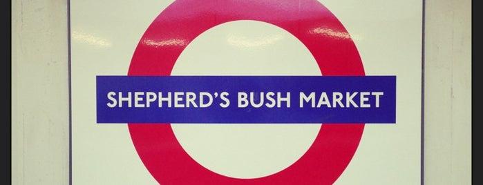 Shepherd's Bush Market London Underground Station is one of Tube Challenge.