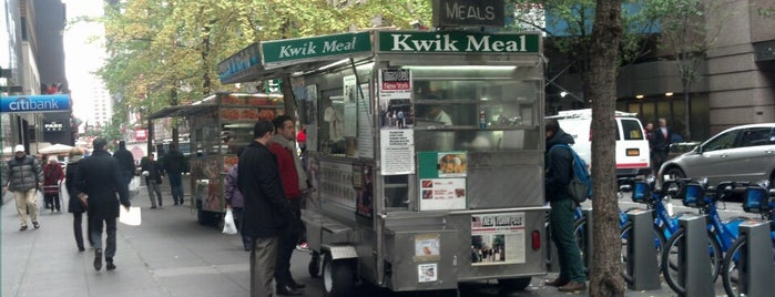 Kwik Meal Cart is one of Top Food Trucks in Midtown.