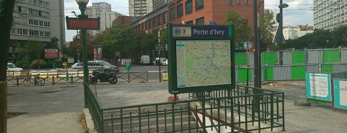 Métro Porte d'Ivry [7] is one of Métro de Paris.
