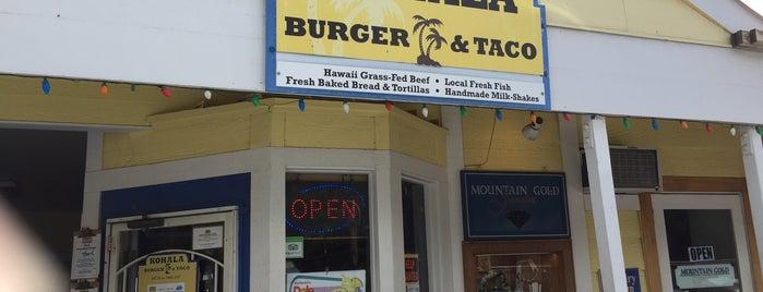 Kohala Burger & Taco is one of Big Island Eats.