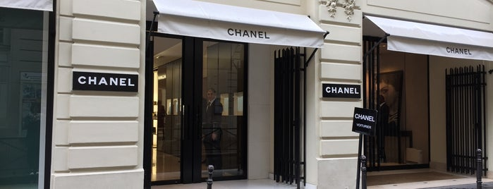 CHANEL Boutique is one of Three Jane's Guide to Paris.