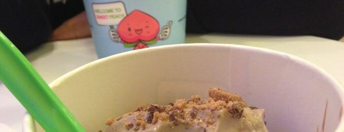 Sweet Peach Frozen Yogurt is one of Baltimore Area Froyo Compendium.