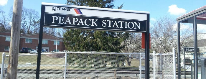 NJT- Peapack Station (M&E) is one of New Jersey Transit Train Stations.