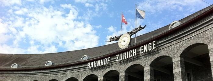 Bahnhof Zürich Enge is one of Bahnhöfe Top 200 Schweiz.
