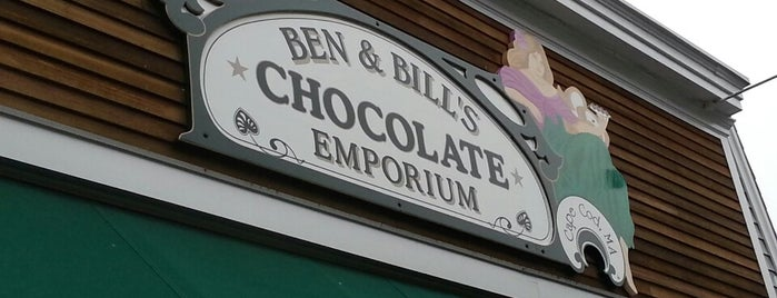 Ben & Bill's Chocolate Emporium is one of a local's guide to Cape Cod.