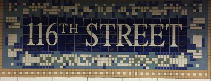 MTA Subway - 116th St (6) is one of NYC Subways 4/5/6.