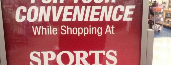 Sports Authority is one of favorites.