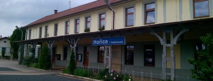 Železniční stanice Hořice v Podkrkonoší is one of Železniční stanice ČR: H (3/14).