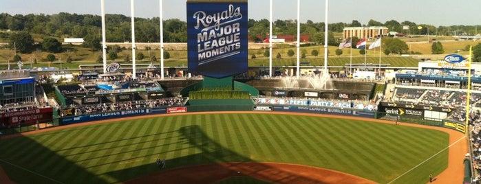 Kauffman Stadium is one of MLB Baseball Stadiums.