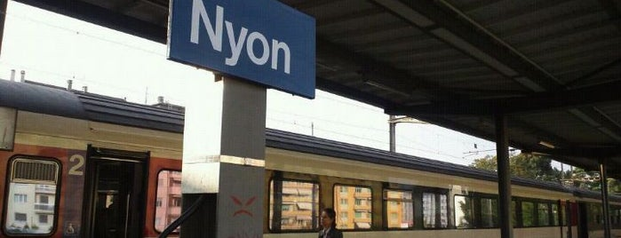 Gare de Nyon is one of Bahnhöfe Top 200 Schweiz.