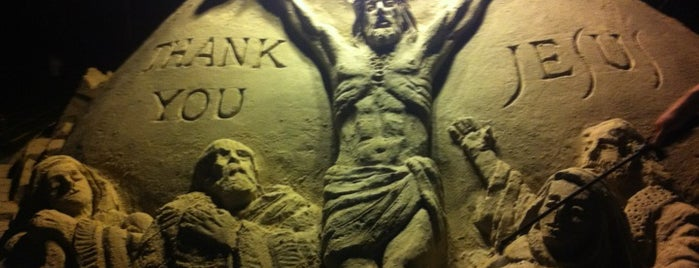 Holy Jesus Sand Sculpture is one of Guide to Rehoboth Beach's best spots.