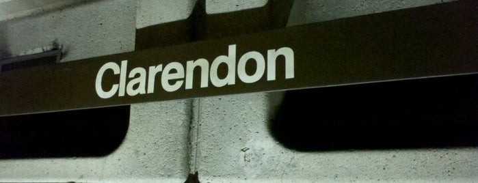 Clarendon Metro Station is one of WMATA Silver Line.