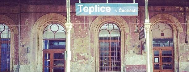 Železniční stanice Teplice v Čechách is one of Železniční stanice ČR: Š-U (12/14).