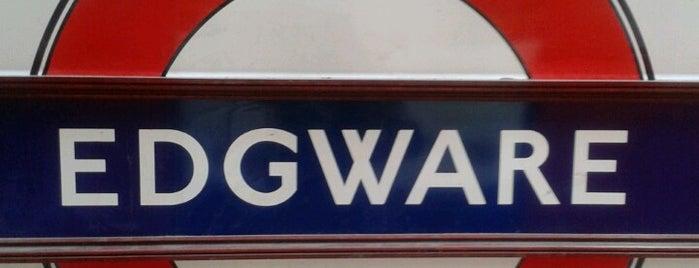 Edgware London Underground Station is one of Tube Challenge.