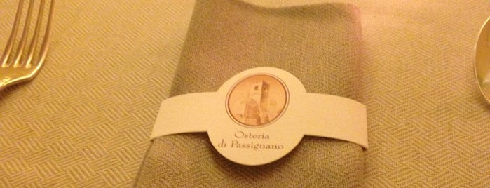 Osteria di Passignano is one of Italy - Summer 2012.