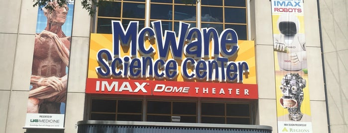 McWane Science Center is one of Salvas.