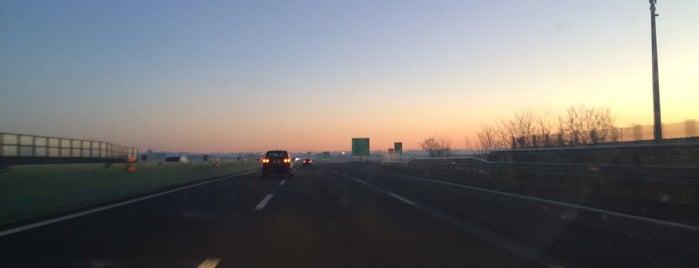 A4 - Volpiano Sud - Brandizzo Ovest is one of A4 Autostrada Torino - Trieste.