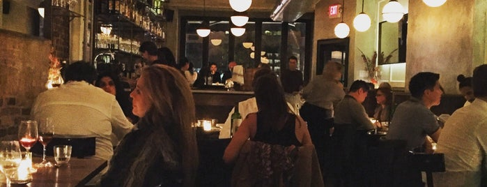 Estela is one of The 38 Essential New York Restaurants, Summer 2016.