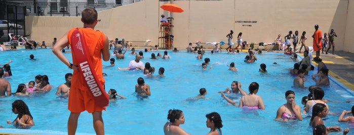 Fisher Pool is one of NYC Parks' Free Outdoor Swimming Pools.