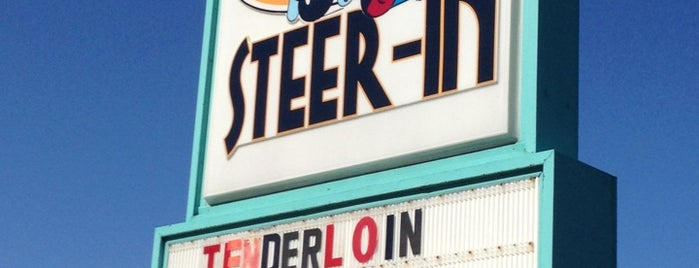 "Indy's Historic Steer-In is one of ""Diners, Drive-Ins & Dives"" (Part 1, AL - KS)."