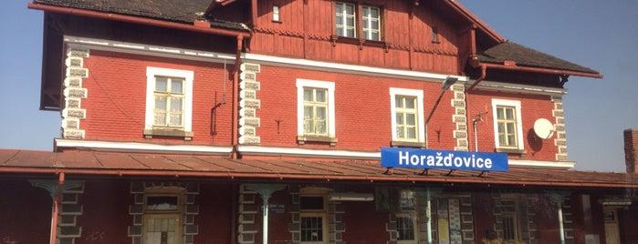Železniční stanice Horažďovice is one of Železniční stanice ČR: H (3/14).