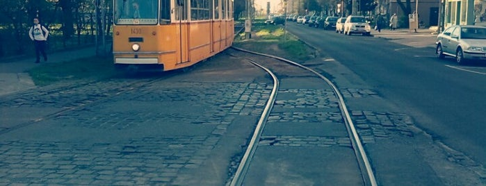 Városház tér (47, 56) is one of Budai villamosmegállók.