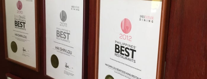 Hai Shin Lou is one of Esquire's 2012 Best Restaurants.