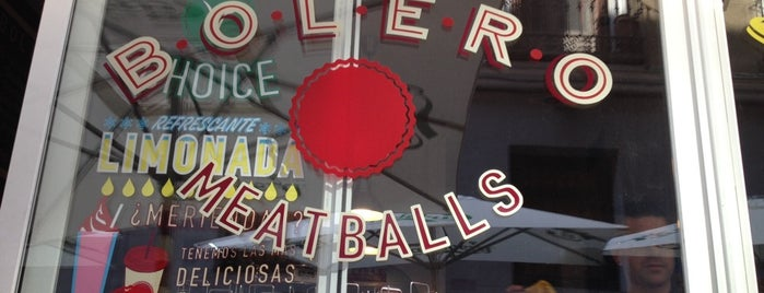 Bolero Meatballs is one of hamburguesas y asi.