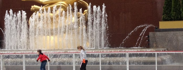 The Rink at Rockefeller Center is one of Architecture - Great architectural experiences NYC.