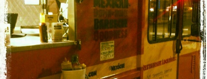 Mexicue Taco Truck is one of NYC Food on Wheels.