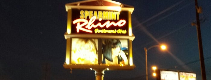 Spearmint Rhino is one of Las Vegas, NV.