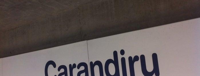 Estação Carandiru (Metrô) is one of Transporte.