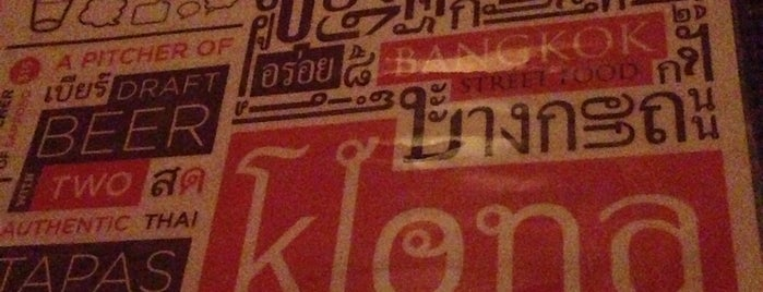 Klong is one of NYC casual eats.