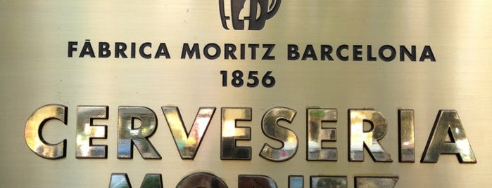 Fàbrica Moritz Barcelona is one of Breakfast and nice cafes in Barcelona.